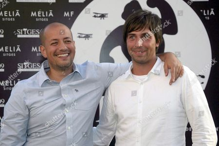 Swedish Director Tarik Saleh (l) and Writer Martin Hultman Pose For the Media During the Presentation of Their Film 'Metropia' at the Sitges International Film Festival 06 October 2009 in Sitges Catalonia Spain the Film Festival Runs Until 12 October Spain Sitges (barcelona)