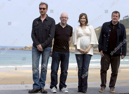 (from Left to Right) British Actor David Thewlis Irish Writer John Boyne Us Actress Vera Farmiga and the English Film Director Mark Herman Pose For the Photographers After Presenting Their Latest Film 'The Boy in the Striped Pyjamas' in the 56th International Film Festival of San Sebastian in the Basque Country Northern Spain 19 September 2008 Spain San Sebastißn