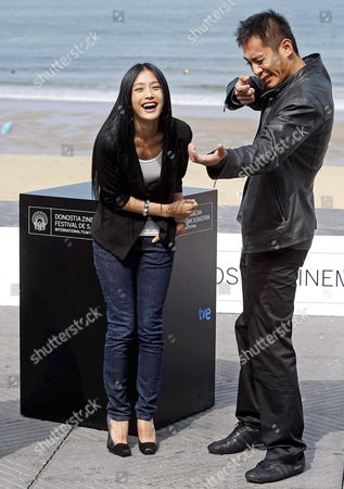 Chinese Actors Liu Ye (r) and Qin Lan (l) Pose For Photographers During the Presentation of Their Film 'City of Life and Death' at the San Sebastian International Film Festival in San Sebastian Northern Spain 21 September 2009 Spain San Sebastian