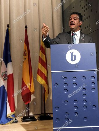 Dominican Republic's President Leonel Fernandez-reyna Gives a Lecture Entitled 'Global Crisis Social Movements and Cyberactivism' at the Ramon Llull University in Barcelona North-eastern Spain 17 June 2011 During His Speech Fernandez-reyna Asked the Un to Press For a Convention to Regulate the Global Financial System Spain Barcelona