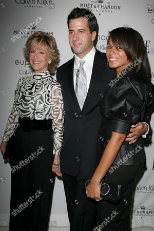 Jane Fonda, son Troy Garity and his wife Simone Bent