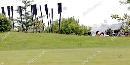 Pedrena's Rowing Race Club Carry Black Oars As the Small Funeral Service For Spanish Golfer Severiano Ballesteros in Pedrena Hometown of Ballesteros in the Region of Cantabria Northern Spain 11 May 2011 the 54-year-old Golf Legend Died on 07 May 2011 After a Long Battle Against a Brain Tumour Spain Pedrena