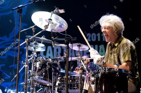 Former British Band 'The Police' Drums Player Stewart Copeland Performs on Stage During His La Mar De Musicas Festival Openning Concert in Cartagena Murcia Southeasthern Spain 09 July 2011 Spain Cartagena