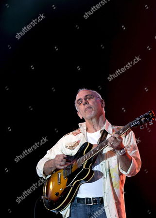 Us Guitarist Larry Carlton Performs on the Ocassion of Vitoria Jazz Festival in Vitoria Basque Country Northern Spain 14 July 2010 Spain Vitoria