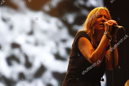 The Lead Singer of British Band Portishead Beth Gibbons Performs on Stage During the Benicassim International Festival in Castellon Eastern Spain 17 July 2011 Spain Castellon