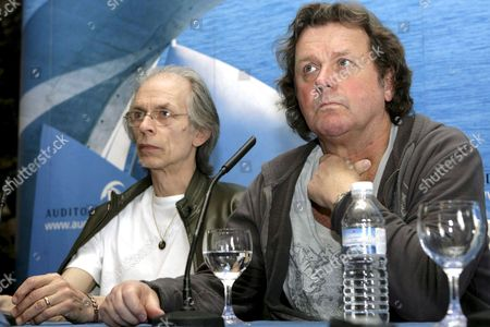 British Musicians John Wetton (r) and Steve Howe of Band Asia During a Press Conference in Santa Cruz De Tenerife Canary Islands Spain 23 May 2008 Asia Will Perform at Tenerife's Auditorium 24 May 2008 Spain Santa Cruz De Tenerife