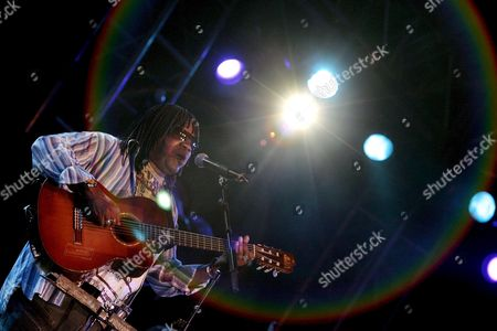 Brazilian Singer Milton Nascimento During His Performance with the Trio Jobim During the Night Dedicated to Bossa Nova at the 32nd Vitoria Gasteiz Jazz Festival in Vitoria Basque Country Northern Spain 19 July 2008 Spain Vitoria