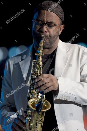 Stock Picture of Us Saxophonist Kenny Garret Performs on the Stage During a Concert at the 34th Vitoria's Jazz Festival in Vitoria Northern Spain 16 July 2010 the Festival Runs From 11 to 17 July Spain Vitoria