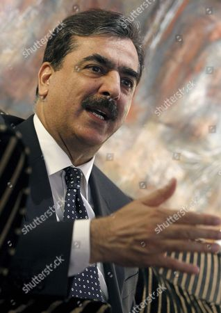 Pakistan's Prime Minister Yousaf Raza Gillani Speaks During an Interview After His Meeting with Spanish Prime Minister Jose Luis Rodriguez Zapatero in Madrid Spain 02 June 2010 Gillani Also Met King Juan Carlos of Spain Today Spain Madrid