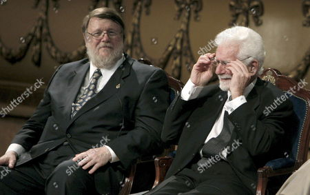 Us Engineers Raymond Samuel (l) and Martin Cooper Are Pictured Before Receiving the Prince of Asturias Award For Scientific and Technical Research at the Campoamor Theatre in Oviedo Northern Spain 23 October 2009 Spain Oviedo