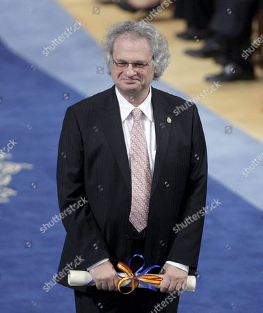 Lebanese Writer Amin Maalouf Onstage After Receiving the Prince of Asturias Prize 2010 For Letters During the 2010 Prince of Asturias Awards Ceremony at the Campoamor Theater in Oviedo Spain 22 October 2010 Spain Oviedo