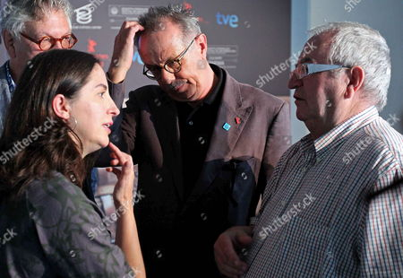 Spanish Chefs Juan Mari Arzak (r) and Elena Arzak (l) Chat with the Director of Berlinale International Film Festival Dieter Kosslick (c) During the Presentation of a New Section of the San Sebastian International Film Festival Called 'Culinary Zinema: Cinema and Gastronomy ' in San Sebastian Basque Country Northern Spain 03 August 2011 the San Sebastian Film Festival Will Run From 16 to 24 September Spain San Sebastian