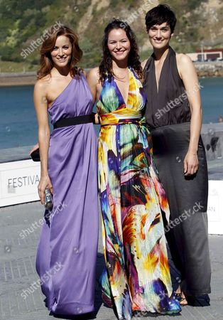 (l-r) Portuguese Actress Maria Joao Bastos and French Actresses Lea Seydoux and Clotilde Hesme Pose For a Photograph After the Photocall of Their Film 'Misterios De Lisboa' (mysteries of Lisbon) at the 58th Annual San Sebastian International Film Festival Held in San Sebastian Basque Country Northern Spain 19 September 2010 the Movie is Presented in the Official Selection of the Festival Running From 17 to 25 September 2010 Spain San Sebastian