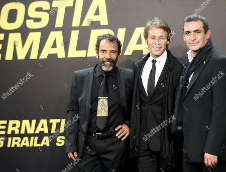 Mexican Actors and Cast Members of the Movie 'Chicogrande ' Damian Alcazar (l) Juan Manuel Bernal (c) and Daniel Martinez (r) Pose Prior to the Opening Ceremony of the 58th Annual San Sebastian Film Festival in San Sebastian Spain 17 September 2010 'Chicogrande (big Boy)' by Mexican Director Felipe Cazals is Presented in the Official Selection of the Festival Running From 17 to 25 September Spain San Sebastian