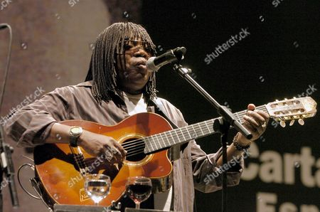 Brazilian Singer and Composer Milton Nascimento Performs on the Stage During the 'Sea of Musics' Festival in Cartagena Murcia Eastern Spain 09 July 2008 Milton Nascimento Performed with French Musics Stephane and Lionel Belmondo This Year Festival is Dedicated to French Music Spain Cartagena