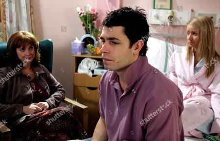 'Emmerdale'   TV   2006 Pictured: Katie Sugden (Sammy Winward) Upsets Andy Sugden (Kelvin Fletcher) When She Tells Him She's Not Going to Stay with Him But with Her Mum Caroline Addyman (Daryl Fishwick)
