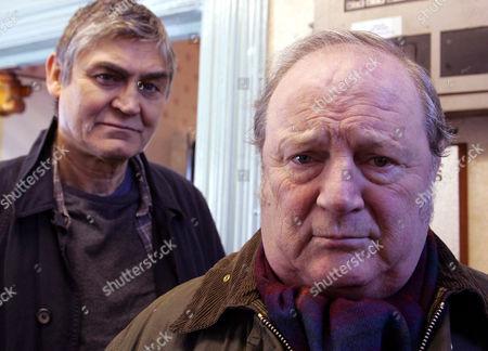 'Emmerdale'   TV   2006 Pictured: Turner (Richard Thorp) goes to meet his estranged son Terrence Turner (Nick Brimble).