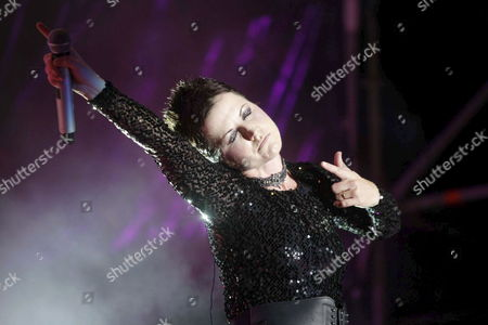 Irish Singer of the Cranberries Dolores O?riordan Perfoms on Stage at the Summer of the Village Festival in Madrid Spain on 30 July 2010 Spain Madrid