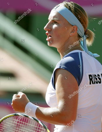 Russian Tennis Player Svetlana Kuznetsova Celebrates After Winning Spanish Carla Suarez at the Federation Cup Second Final Match They Played at the Club De Campo Villa Tennis Premises in Madrid Central Spain 13 September 2008 Kuznetsova Won 6-3 and 6-1 and Gave Russia the Second Point For the Final Epa/angel Diaz Spain Madrid