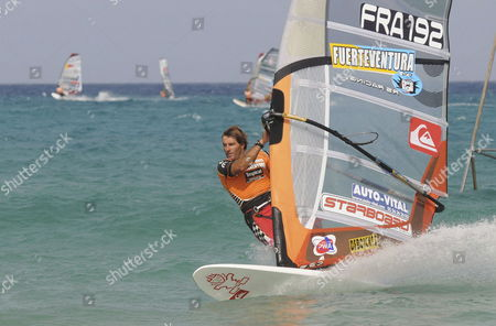 French Antoine Albeau in Action During the Windsurf World Cup 2008 in Jandia Fuerteventura Canary Islands Spain 22 July 2008 Spain Fuerteventura