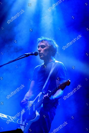 French Musician Yann Tiersen Performs on Stage During His Concert to Promote the Musical Production 'Dust Lane' in Montevideo Uruguay 25 May 2010 Uruguay Montevideo