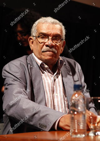 Stock Image of Caribbean Writer and Winner of the Nobel Literature Prize Derek Walcott Attends a Literature Meeting at the Latinoamerican Study Center Romulo Gallegos (celarg As in Spanish) in Caracas Venezuela on 26 May 2010 Venezuela Caracas