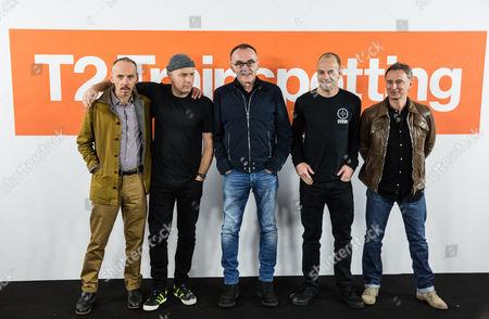 Ewen Bremner, Ewan McGregor, Danny Boyle, Jonny Lee Miller and Robert Carlyle