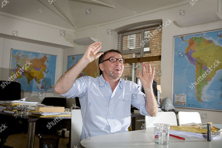 Editorial picture of Hugh Hendry, Hedge Fund Manager in his Bayswater offices, London, Britain - 24 Sep 2008