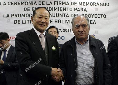 Editorial photo of Bolivia South Korea Diplomacy - Jul 2011