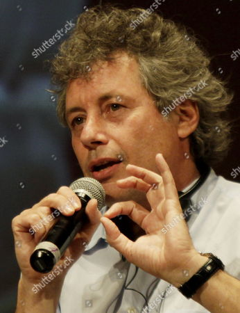 Italian Writer Alessandro Baricco Speaks During Third Day of Hay Festival of Cartagena Colombia 29 January 2011 Colombia Cartagena