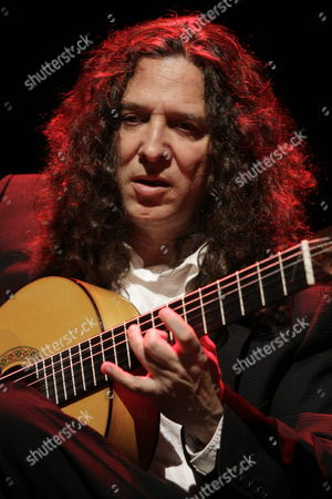 Spanish Guitar Player Jose Fernandez Torres Better Known As 'Tomatito' is Seen During a Rehearsal Before His Preformance at Teatro Mayor De Bogota Colombia 31 March 2011 'Tomatito' 2010 Latin Grammy Winner is Presenting His Record 'Aguadulce' Colombia Bogota