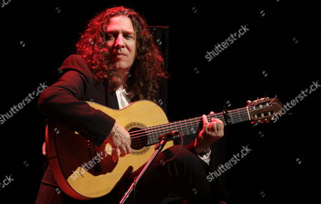 Spanish Guitar Player Jose Fernandez Torres Better Known As 'Tomatito' is Seen During a Rehearsal Before His Performance at Teatro Mayor De Bogota Colombia 31 March 2011 'Tomatito' 2010 Latin Grammy Winner is Presenting His Record 'Aguadulce' Colombia Bogota