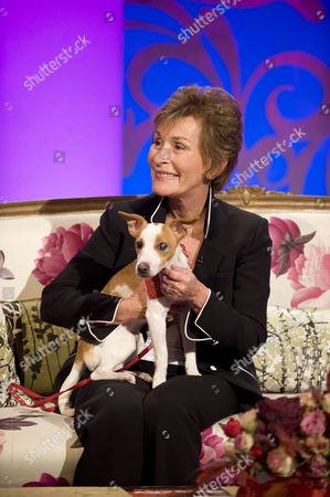 Judge Judy  AKA Judith Sheindlin and dog