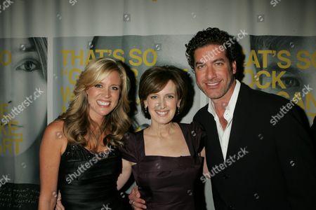 Paige Hemmis, Anne Sweeney and Eduardo Xol