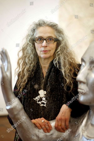 German-born Us Artist Kiki Smith Poses Next to Her Sculpture 'Messenger I-iii' During the Inauguration of the Exhibition 'Her Memory' Organized by the Miro Foundation in Barcelona on Wednesday 18 February 2009 the Exhibition Shows Her Most Recent Work Until 24 May 2009 Spain Barcelona