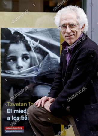 Bulgarian-born French Historian and Philosopher Tzvetan Todorov Poses For Photographers As He Presents His Book 'Fear of Barbarian' Which is Published in Spain and France Simultaneously 21 October 2008 in Madrid Spain Three Days Before He Receives the 2008 Prince of Asturias Award For Social Sciences Spanish Crown Prince Felipe De Borbon Will Hand in the Prince of Asturias Awards in a Award Ceremony Taking Place on 24 October at Campoamor Theater in Oviedo Northern Spain Each 2008 Prince of Asturias Award Consists a Prize Money of 50 000 Euro and a Replica of a Sculpture by Spanish Artist Joan Miro Prince of Asturias Awards Are Composed of Eight Categories Including Scientific Research Communication and Humanities Social Science Arts Literature International Cooperation Concord and Sports Spain Madrid