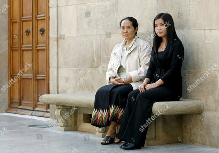Burmese Activists Cynthia Maung (l) and Zoya Phan Pose For Photographers 10 November 2008 in Barcelona Catalonia Region Northeastern Spain Cynthia Maung and Phan who Receives the Award in Behalf of Burmese Detained Leader Aung San Suu Kyi Will Be Awarded Catalonia International Prize Worth at 100 000 Euro on 11 November 2008 For Their 'Defense of Freedom and Justice' Cynthia Maung Runs a Clinic For Burmase Refugees in Thai Border Town of Mae Sot Spain Barcelona
