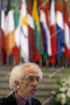 Bulgarian-born French Semiologist and Historian Tzvetan Todorov is Seen As He Takes Up a Post As New Member of the European Academy of Yuste at the Yuste Monastery in Cuacos De Yuste Caceres Extremadura Western Spain 18 June 2008 Todorov Won the 2008 Prince of Asturias Award For Social Science Prince of Asturias' Too Panel Announced 18 June 2008 in Oviedo Asturias Spain Spain Cuacos De Yuste-caceres