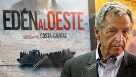 Stock Image of Greek-born French Director Constantinos Gavras Better Known As Costa-gavras Poses For Photographers During the Presentation of His Movie 'Eden ? L'ouest' at the 30th Annual 'Mostra De Valencia' Film Festival in Valencia Spain 18 October 2009 Spain Valencia