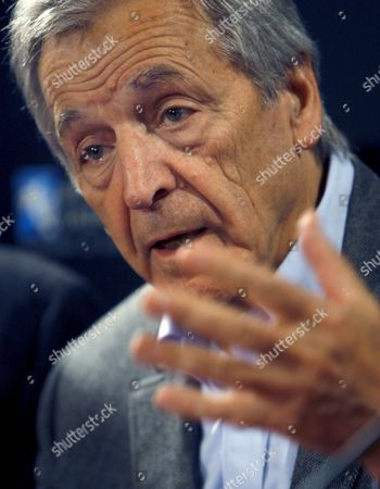 Stock Picture of Greek-born French Director Constantinos Gavras Better Known As Costa-gavras Gestures During the Presentation of His Movie 'Eden ? L'ouest' at the 30th Annual 'Mostra De Valencia' Film Festival in Valencia Spain 18 October 2009 Spain Valencia