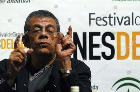 Egyptian Film-maker Yousry Nasrallah Gestures During a Press Conference on Ocassion of the Presentation of His Film 'Genenet Al Asmak' at the 2nd Film Festival 'Cines Del Sur' ('southern Cinema') in Granada City Spain 06 June 2008 Spain Granada