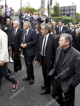Four Former Ryder Cup Captains (l-r): Bernard Gallacher Colin Montgomery Sam Torrance and Nick Faldo (c Background) and Welshman Ian Woosnam (r) Attend the Funeral Procession of Spanish Golfer Severiano Ballesteros Celebrated Through the Streets of His Hometown of Pedrena Before a Small Service at San Pedro Parish in the Region of Cantabria Northern Spain 11 May 2011 the 54-year-old Golf Legend Died on 07 May 2011 After a Long Battle Against a Brain Tumour Spain Pedrena