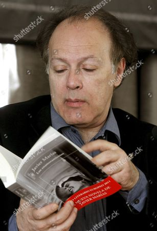 Spanish Writer Javier Marias Poses For Photographs During an Interview About His Latest Book 'Los Enamoramientos' (falling in Love) in Madrid Spain 06 April 2011 Spain Madrid