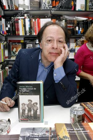 Spanish Writter Javier Marias During His Book Signing at the Madrid Book Fair in Retiro Park Downtown Madrid Spain 08 June 2008 Spain Madrid