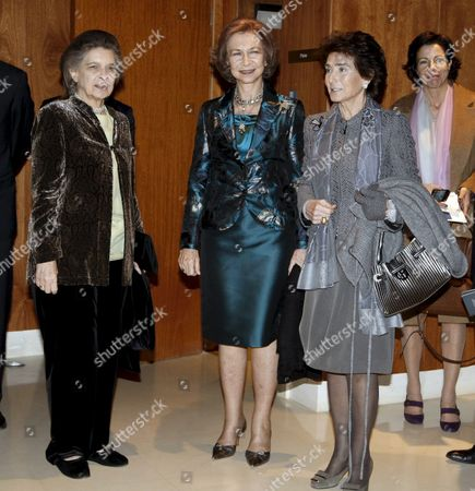 A Picture Made Available on 16 December 2010 Shows Spain's Queen Sofia (c) Her Sister Irene (l) and Spanish Pianist and Founder and Current Principal of the Queen Sofia College of Music Paloma O'shea (r) Before the Queen Chaired a Concert to Pay Tribute to Us Violinist and Orchestra Conductor Yehudi Menuhin in Madrid Spain 15 December 2010 Menuhin (1916-1999) was One of the Members of the Academic Committee and the Board of Trustees of the School From Its Creation in 1991 Spain Madrid