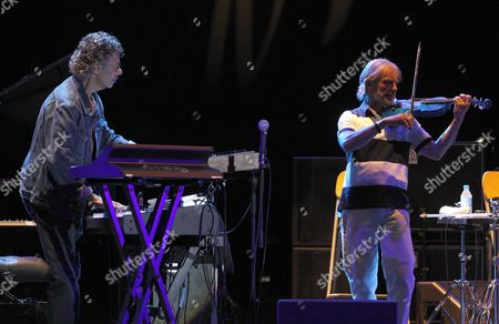 Members of 'Return to Forever ' Chick Corea (l) and Jean-luc Ponty Perfom Onstage During a Concert at the 'Door of the Angel' in Madrid Spain 22 July 2011 Spain Madrid