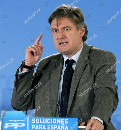 European People's Party General Secretary Antonio Lopez-isturiz White Speaks During the 1st Spanish Popular Party Foreign Summit in Leon Northwestern Spain 14 January 2011 the Meeting Will Be the Base of an Electoral Programme with Regard to Spanish Immigrants Spain Leon