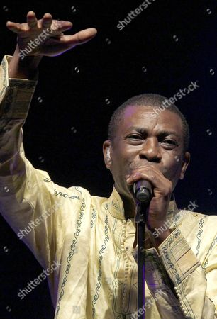 Senegalese Singer Youssou N?dour Performs on Stage During a Concert at ' Veranos De La Villa ' Festival in Madrid Spain 16 July 2010 Spain Madrid