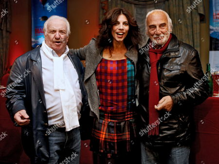 A Picture Dated 20 July 2010 Shows Argentinean Actors Pepe Soriano (l) and Hector Alterio (r) and Spanish Actress Maribel Verdu (c) During the Presentation of the Madrid Cine 2010 Cinema Exhibition in Buenos Aires Argentina Spanish Film Produced by Companies Located Madrid Will Be Presented at the Event That is to Take Place From 22 to 28 July Argentina Buenos Aires