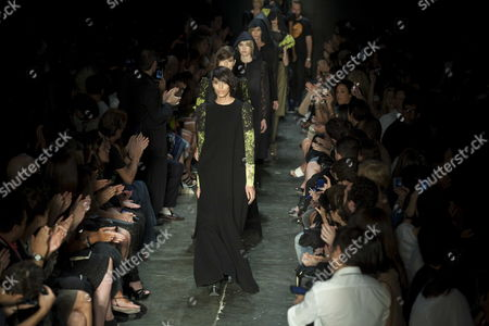 Brazilian Transexual Model Lea T Wears a Creation by Brand Alexandre Herchcovitch During a Fashion Show of Sao Paulo Fashion Week at Park Ibirapuera of Sao Paulo Brazil 29 January 2011 Brazil Sao Paulo